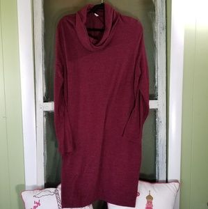 Old navy maroon sweater dress